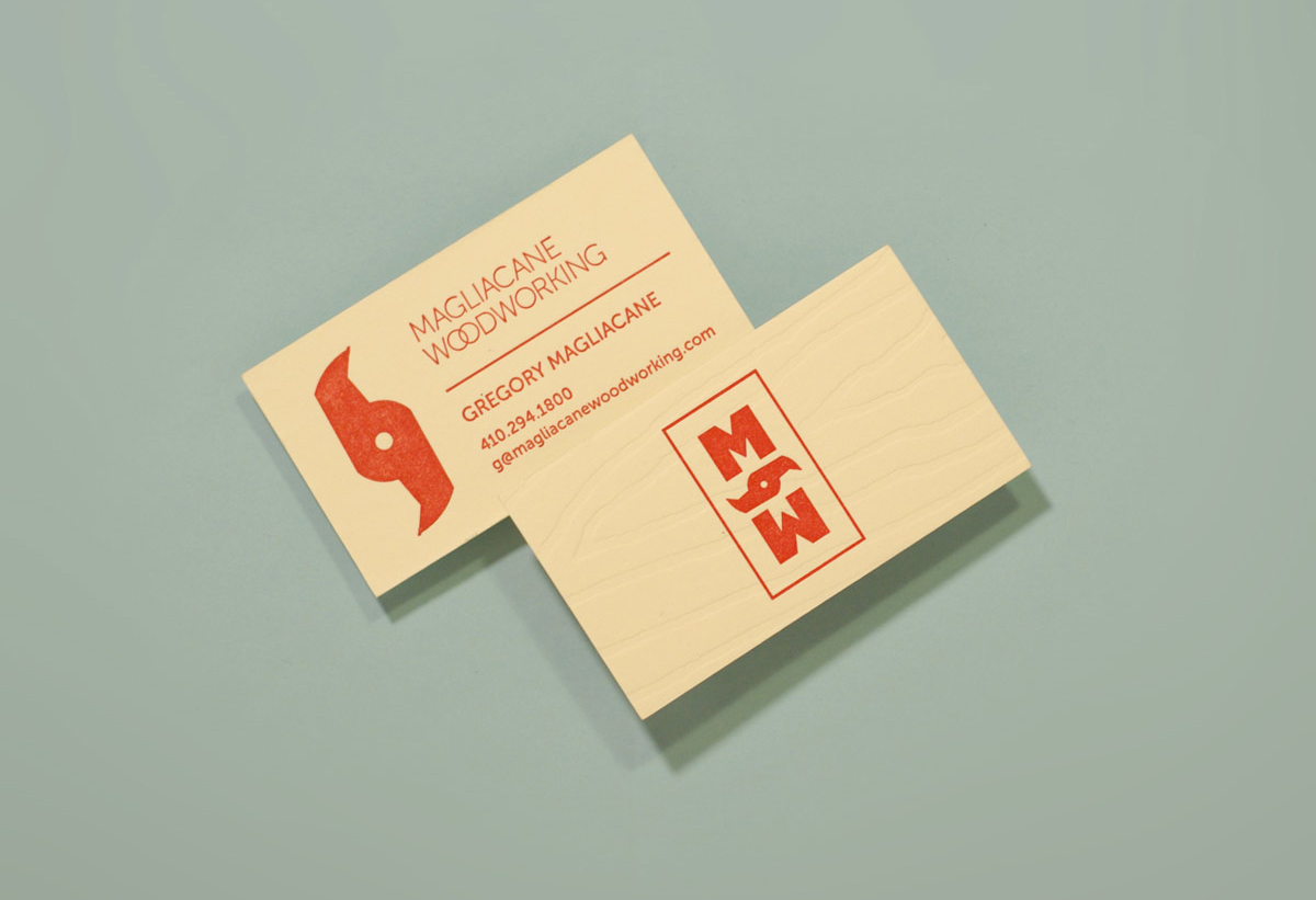Magliacane Woodworking Logo and Letterpressed cards